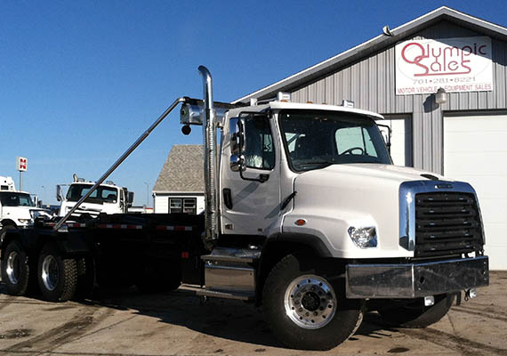 Semi Truck with Dum Bed - White