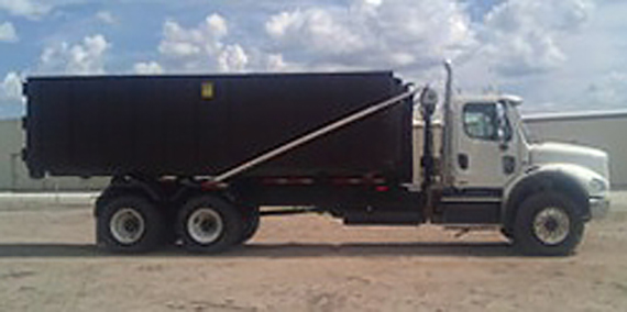 Semi Truck with Hook & roll DUmp Bed Down