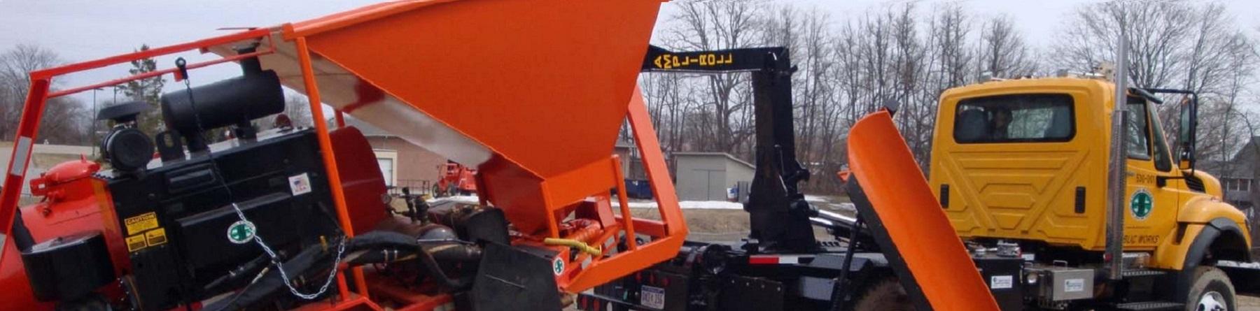 Dump Bed Semi Truck with Hopper & Pressure Unit