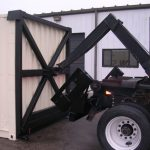 Dump Bed Shipping Container Pickup