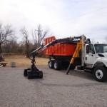 Lawton Dump Bed and Crane Excavator Arm