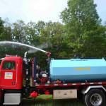 Semi Water Tank on Dump Bed
