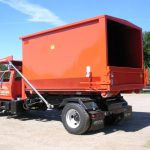 Dump Bed with High Covered Trailer