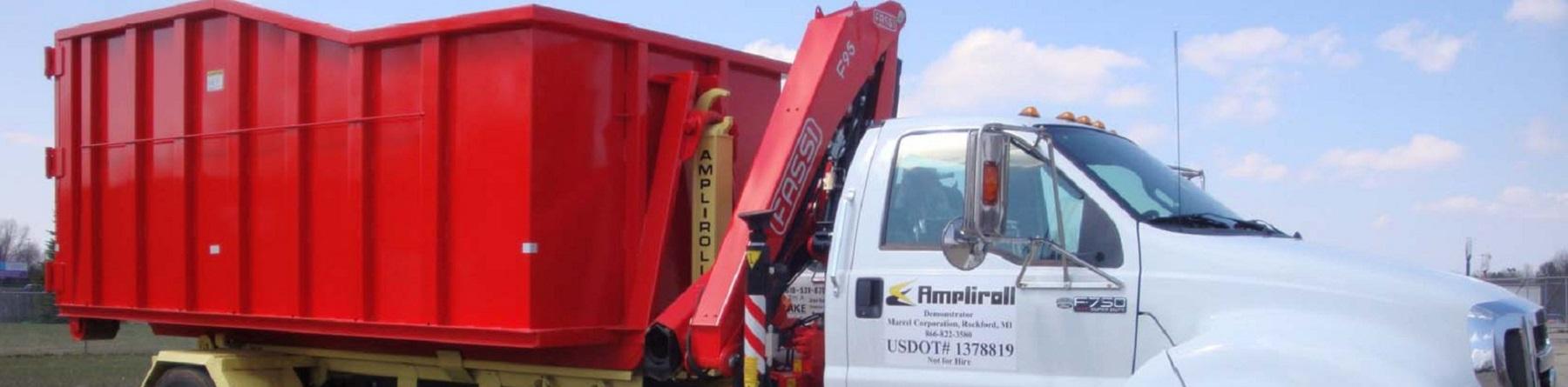 Dump Bed Semi Truck Banner