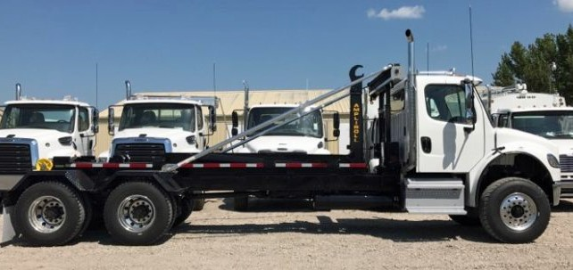 2019 Freightliner M2 106 with 50000 pound ampliroll hooklift